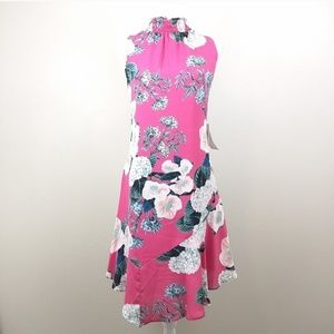 NEW Ivanka Trump asymmetrical floral Dress